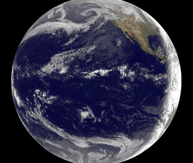 Goes 11 Satellite Sees Pacific Ocean Basin After Japan Quake By Nasa Goddard Photo