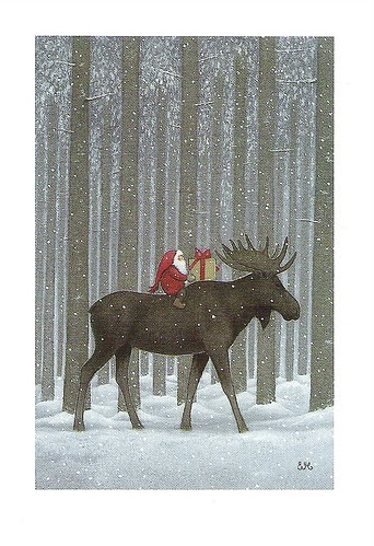 Christmas Moose By Eva Melhuish Mini RR163 RAS From Anu