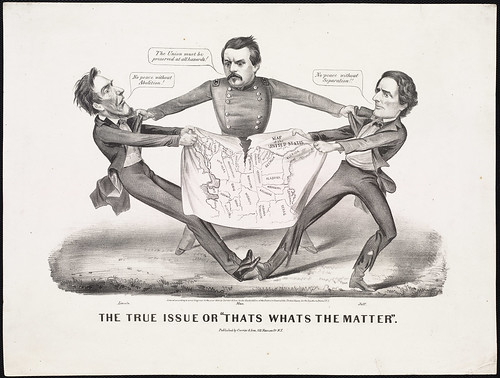 Torn In Two Political Cartoon In This 1864 Cartoon
