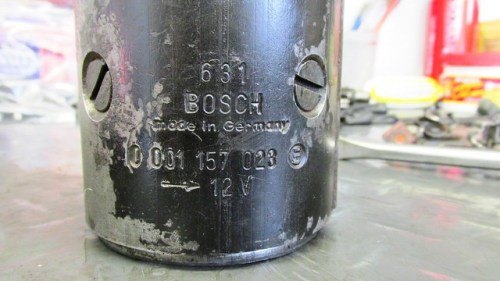 Bosch Stater Motor Model Showing Type and Model Number