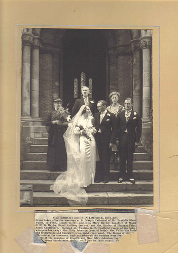 Wedding Of Franklin Bland Fuller To Mary Bayley THE