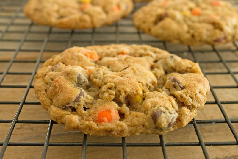 monster cookies with peanut butter pieces