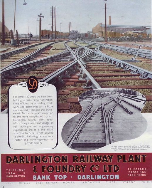 Darlington Railway Plant & Foundary 1949