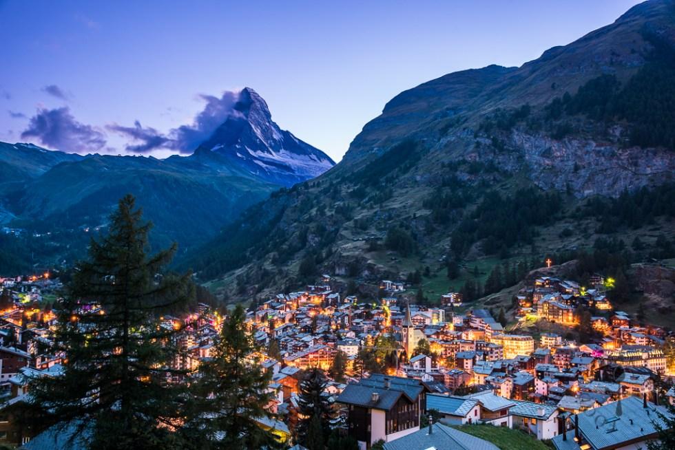 Twilight over Zermatt