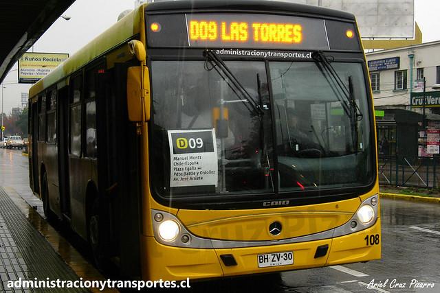 Transantiago D09 | STP Santiago | Caio Mondego H - Mercedes Benz / BHZV30