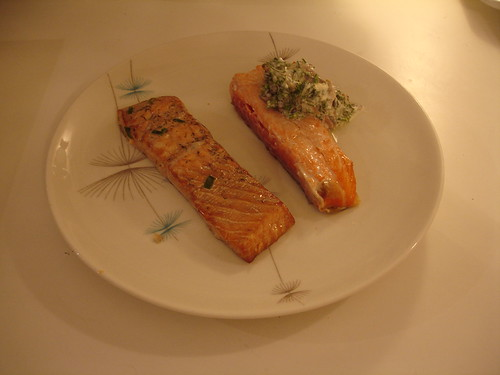salmon with salsa verde mayonnaise