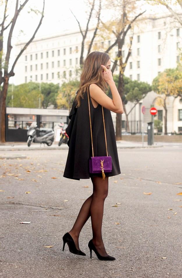 little black dress yves saint laurent bag accessories black heels outfit party look style05