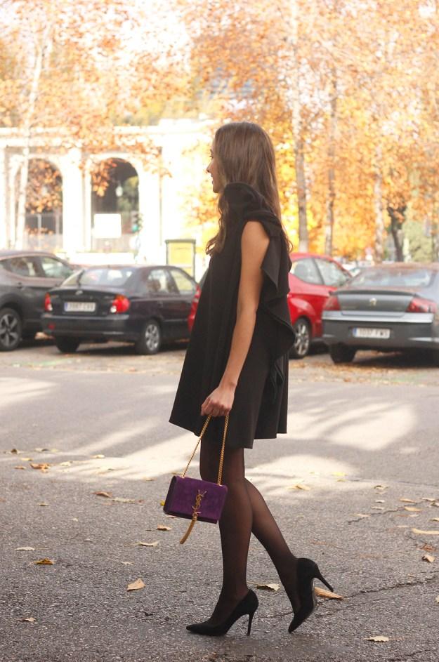 little black dress yves saint laurent bag accessories black heels outfit party look style10