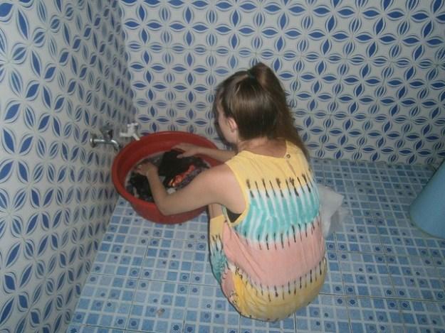 Briana Doing Laundry