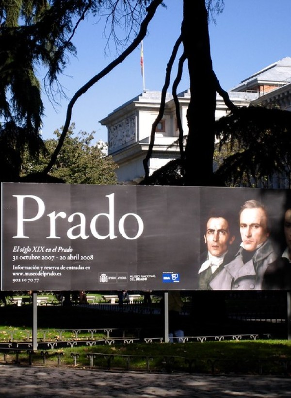 The outside of the Prado museum, located in Madrid. This is one of the best areas to stay in Madrid as a family as it is close to most Madrid's attractions and is close to the beautiful retiro park
