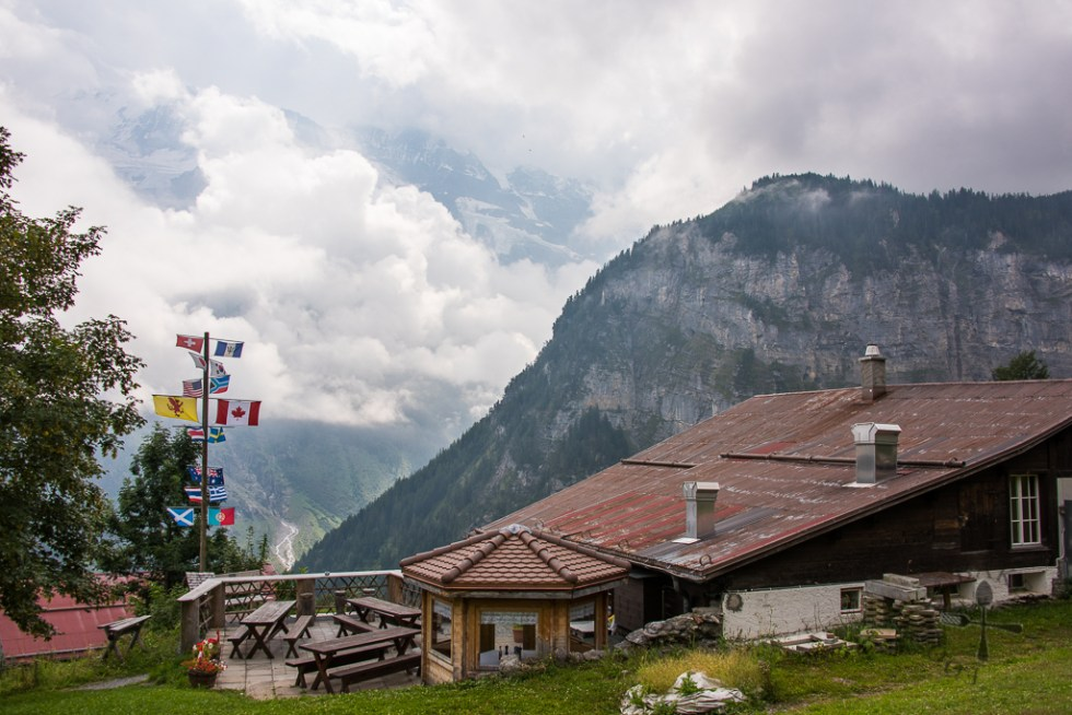 Restaurant at Gimmelwald
