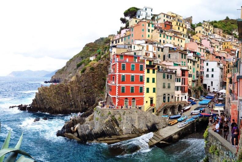 Houses in Riomaggiore, Cinque Terre, Italy