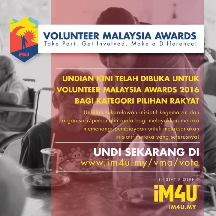 Jom Undi Calon-Calon Volunteer Malaysia Awards Sekarang!