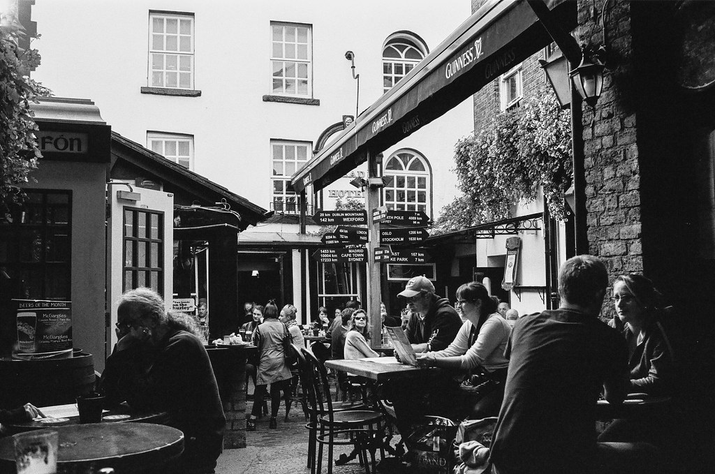 Inside the oldest pub in Ireland on Kodak T-Max 400 film