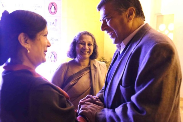 Netherfield Ball – William Dalrymple of Jaipur Literature Festival Exposes His Rumored Friendship with Namita Gokhale of Jaipuir Literature Festival at Her Book Launch, The Taj Mahal Hotel
