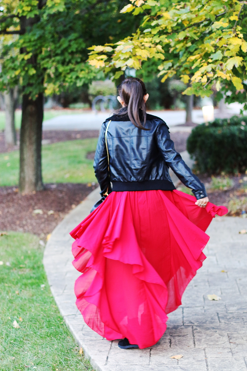 shein-red-maxi-dress-leather-jacket-2