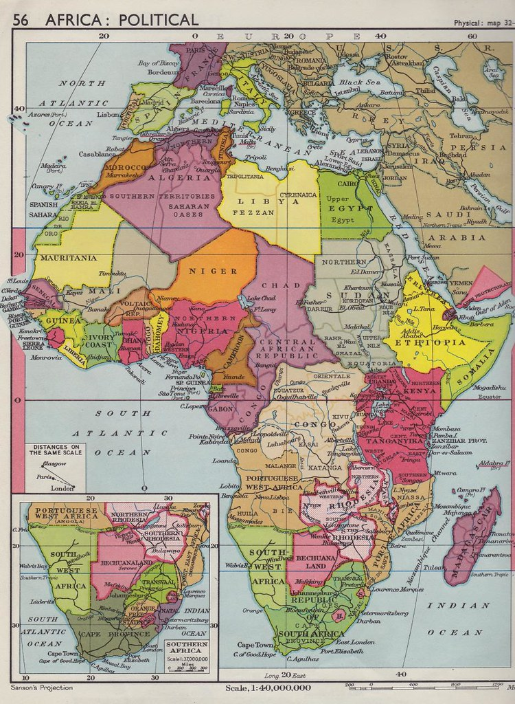Collins Longman Atlas 1962   Africa Political Map   Steven Feldman         Collins Longman Atlas 1962   Africa Political Map   by StevenFeldman
