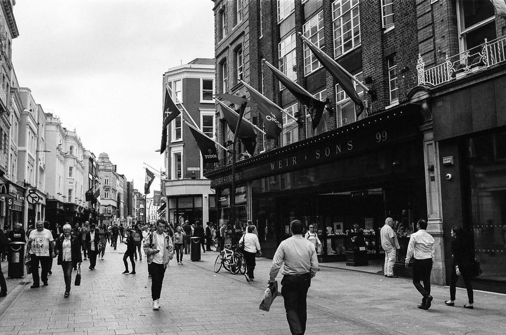 Dublin street scene on Kodak T-Max 400 film