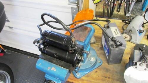Starter Motor Test Setup