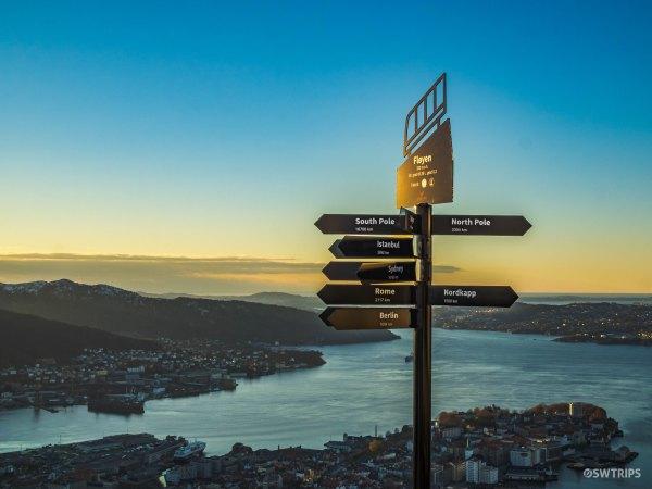 Distance Sign - Bergen, Norway.jpg