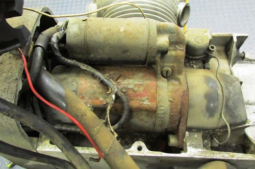 Rusty Starter Motor with Cob Webs