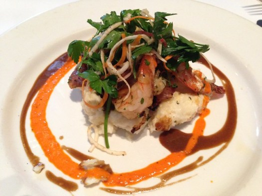 New Orleans Barbecued Gulf Shrimp and Grits, Commander's Place, New Orleans LA
