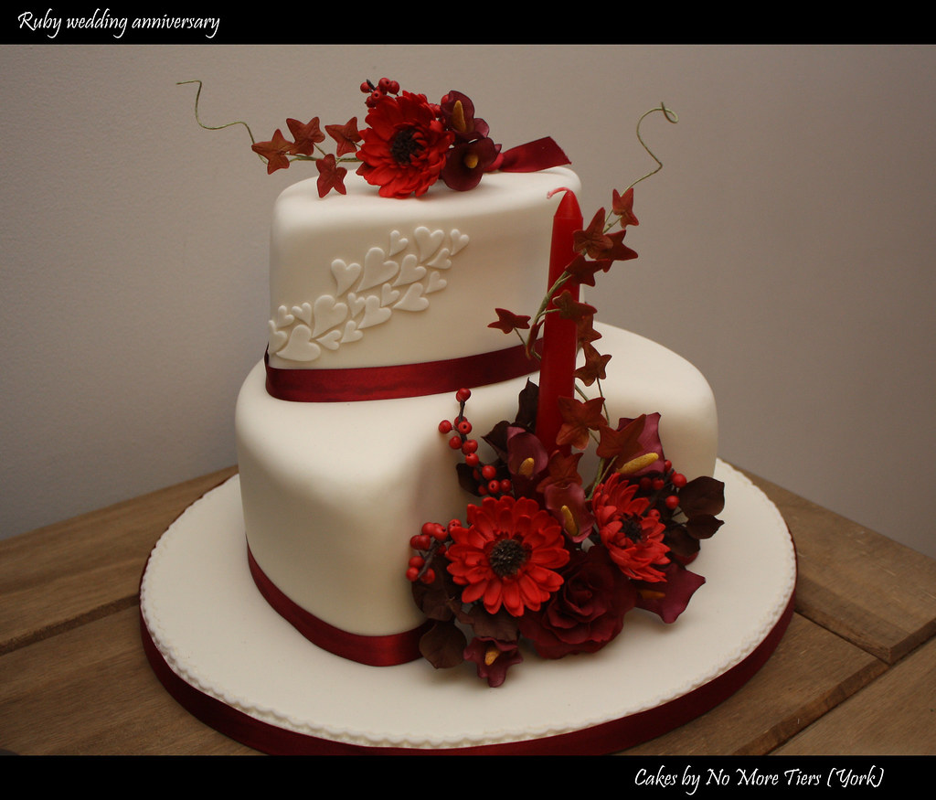 Ruby wedding anniversary cake   Autumnal   And now for somet      Flickr     Ruby wedding anniversary cake   Autumnal   by Cakes by No More Tiers   York
