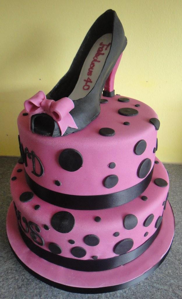 Cake Happy High Birthday Shoes Heel