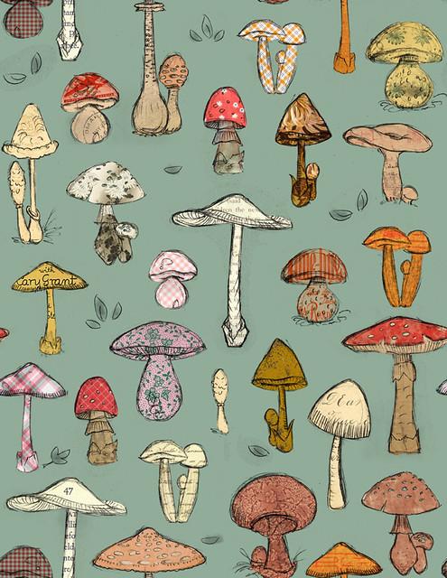 Mushroom 4 Piece Versailles Pattern