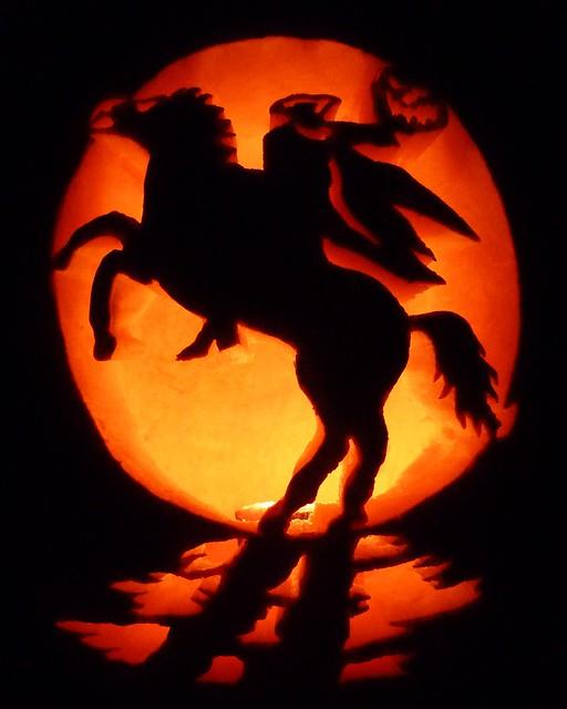 Headless Horseman Jack O Lantern Stencil
