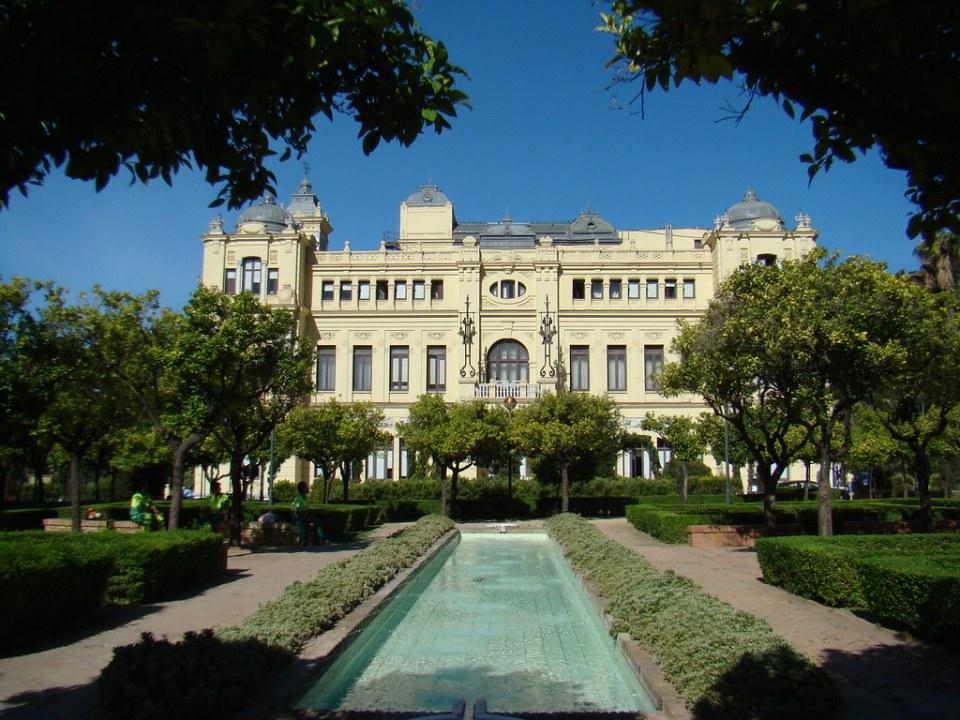 Malaga Ayuntamiento de Malaga fachada lateral Alameda Principal 13