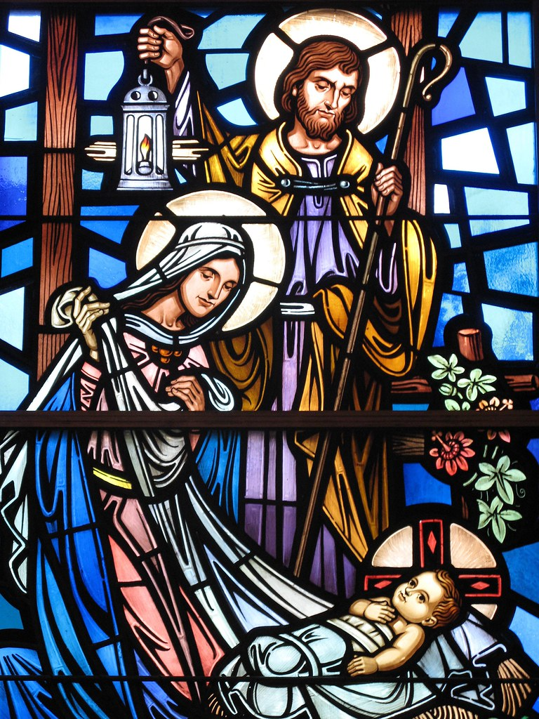 The Birth Of Jesus Stained Glass Window Detail Of The