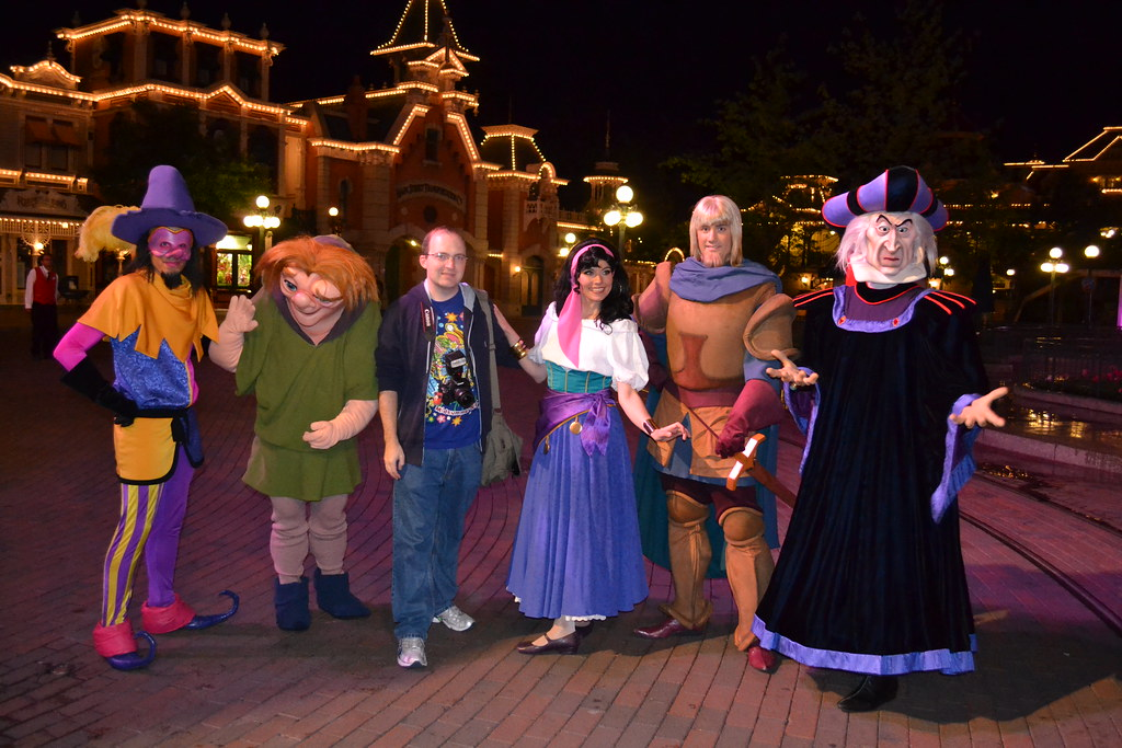 Meeting The Hunchback Of Notre Dame Gang On Main Street