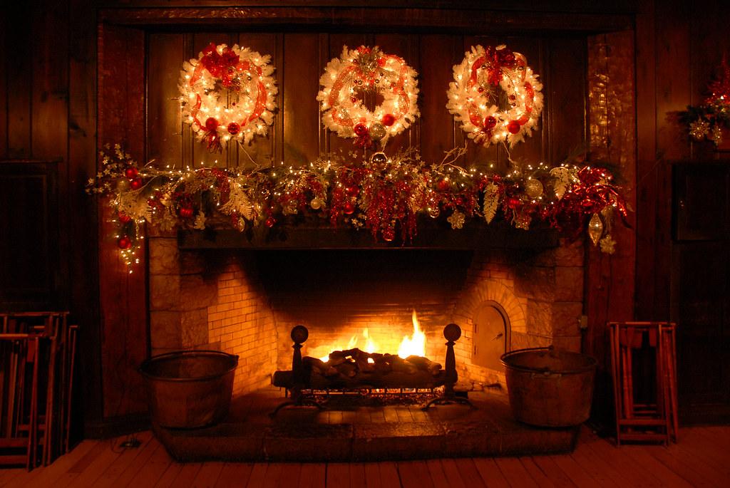 Xmas Fireplace Decorations