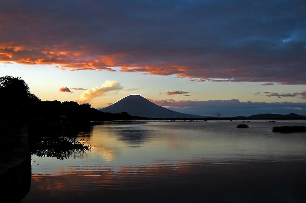 Sunset On Laguna De Olomega San Miguel Province El Salva