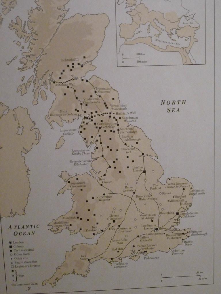 British Museum Map Of Roman Britain I Particularly
