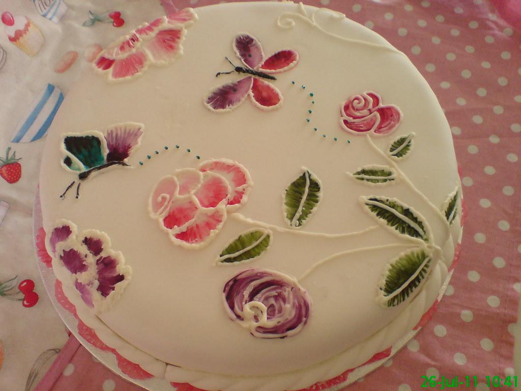 Brush Embroidery Cake Sonyao Flickr