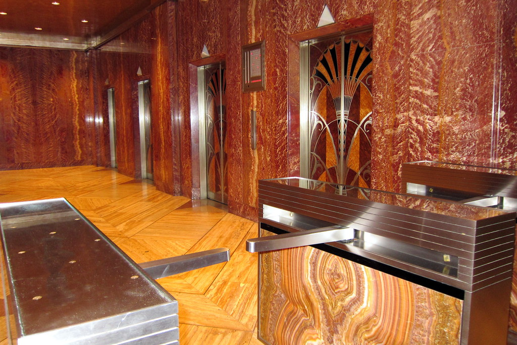Nyc Midtown Chrysler Building Elevator Hall The