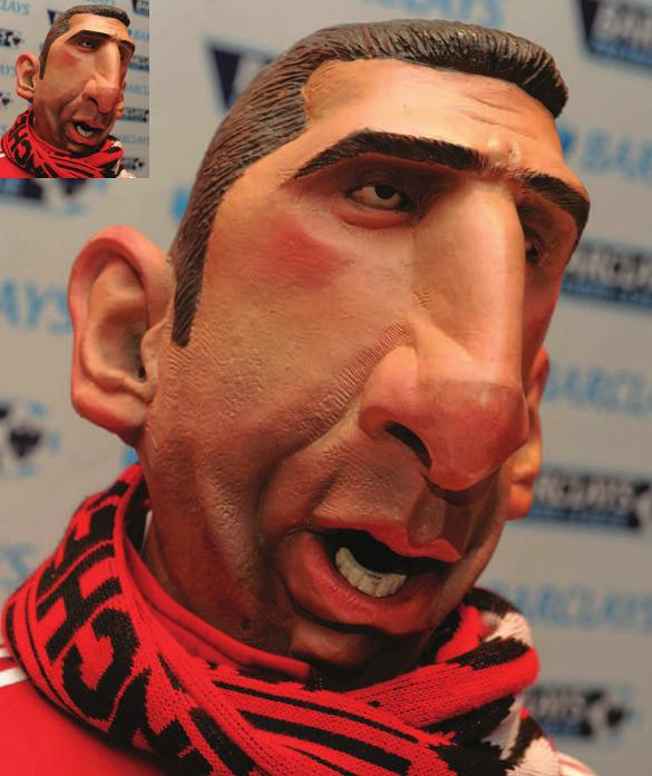 Spitting Image Puppet Of Eric Cantona At The National Foot