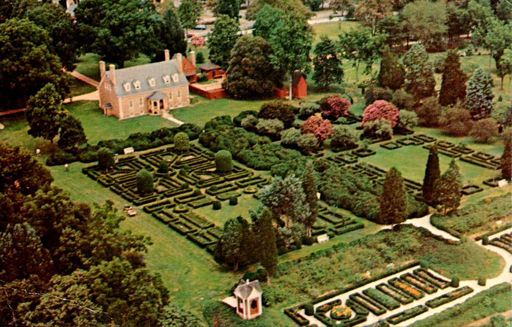Gunston Hall From Air Postcard Gunston Hall From The