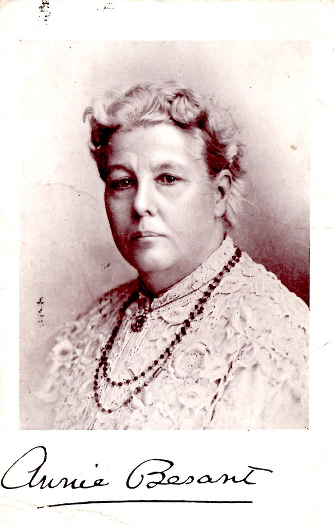 Annie Besant I Bought This Postcard On EBay The