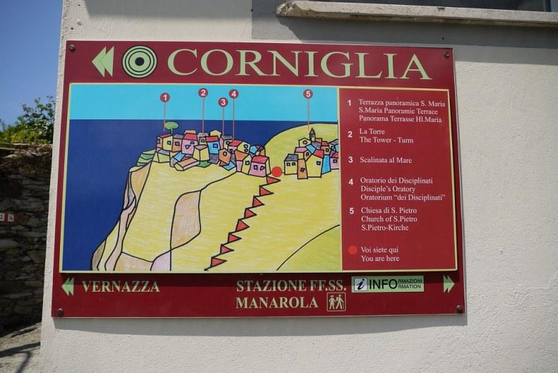 Corniglia Map