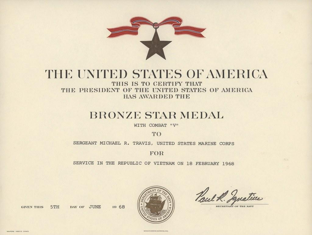 Bronze Medal Certificate Template