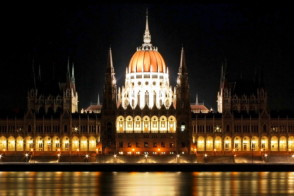Hungarian Parliament Symmetry Budapest One Of The Most