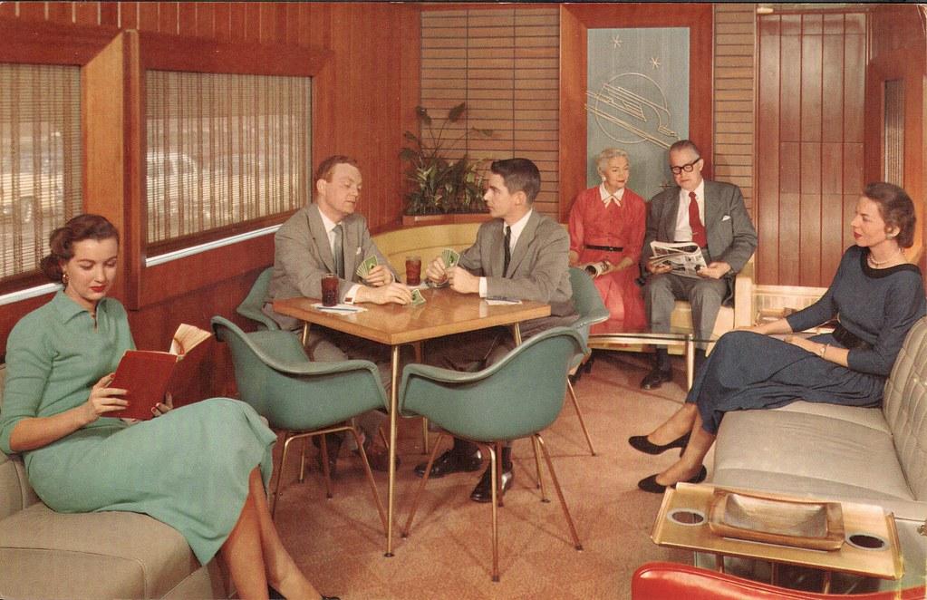 1950s Union Pacific Railroad Redwood Lounge Car Flickr