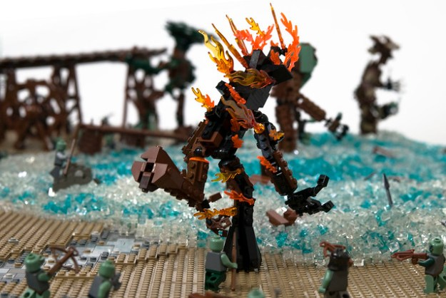 lego lord of the rings tower of orthanc breaks seven