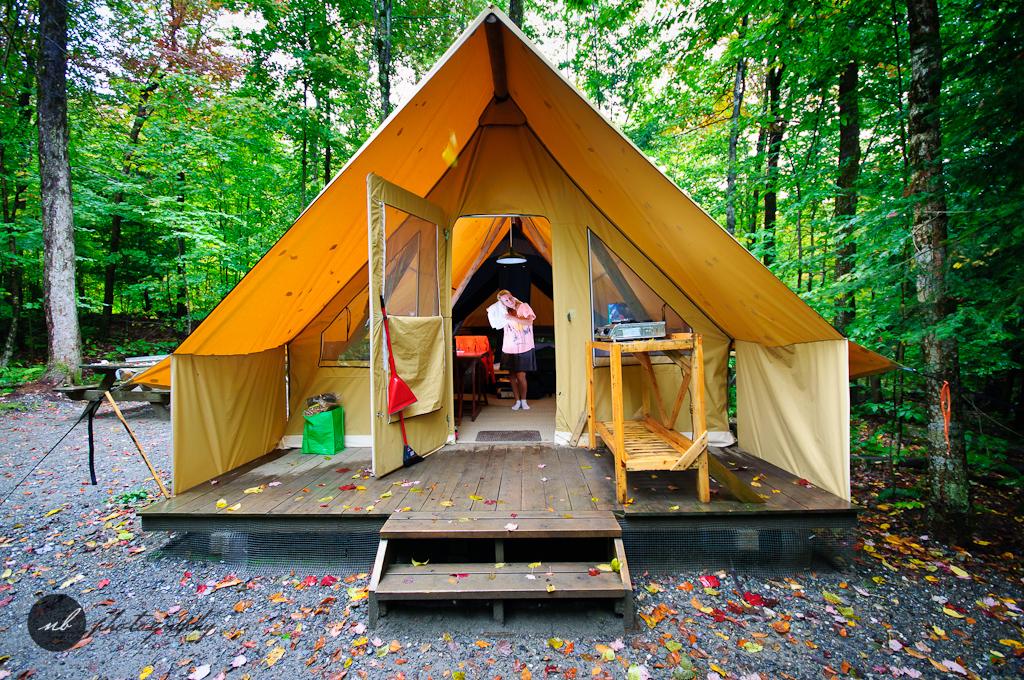 Huttopia Camping Du Parc Du Mont Orford Dans Une Tente
