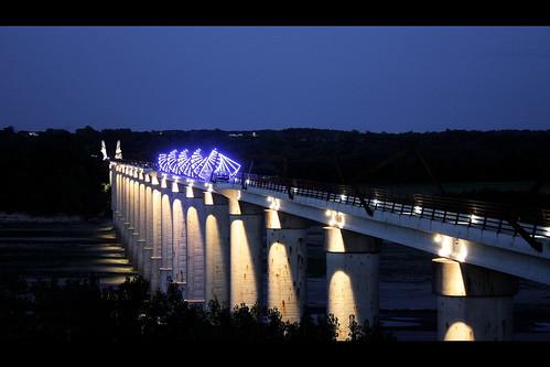 High Trestle Trail Bridge Night I Ve Posted Several