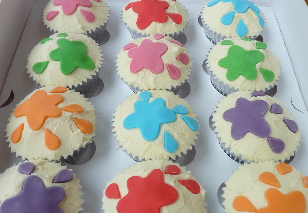 Paint Splash Cupcakes The Cupcake Fairy Flickr