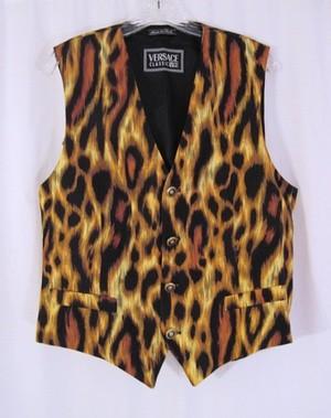 VERSACE V2 Leopard Print Mens Vest Archive Pic Only